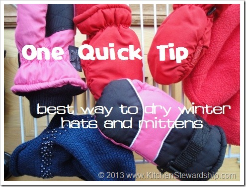 Best Way to Dry Winter Mittens and Hats