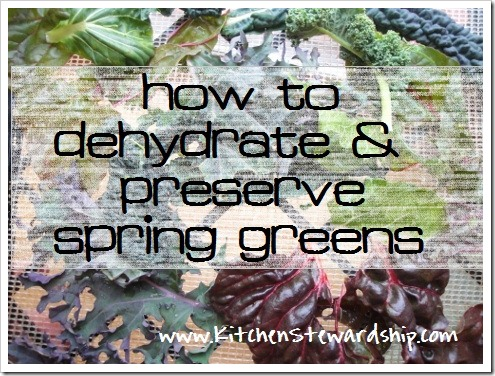 How to Dehydrate Spring Greens