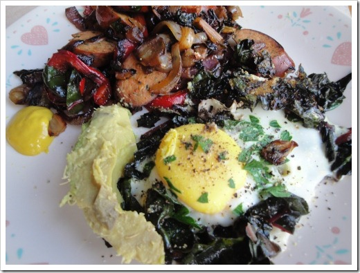 lunch - egg with greens sausage and peppers (1) (500x375)