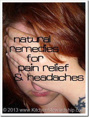headache natural remedies pain relief