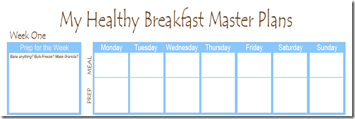 Breakfast Plan Preview