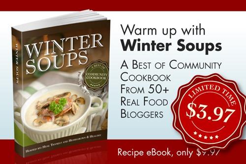 winter soup sale banner