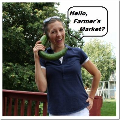 Hello Farmer's Market - cucumber phone