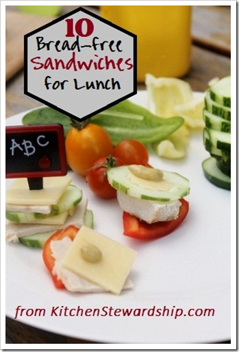 Sandwiches without bread for a healthy packed lunch