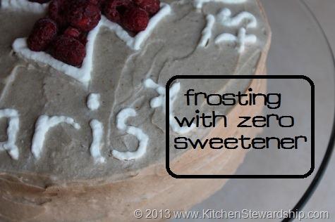 Frosting with Zero Sweetener