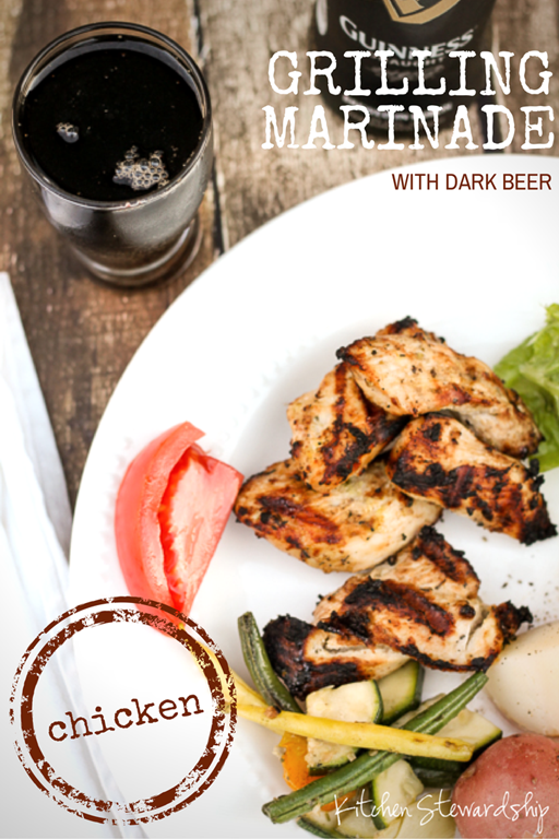 Meat Marinade Grilling Recipe with Dark Beer to Reduce Carcinogens