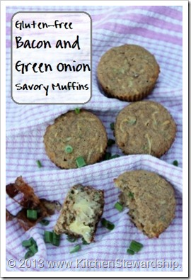 Gluten Free Bacon Green Onion Muffins