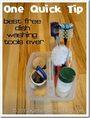 One Quick Tip - Best Free Dish Washing Tools Ever