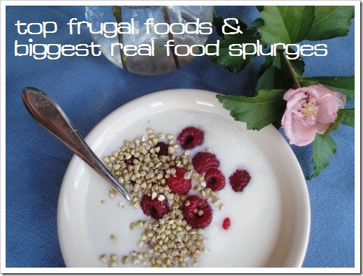 frugal foods and splurges