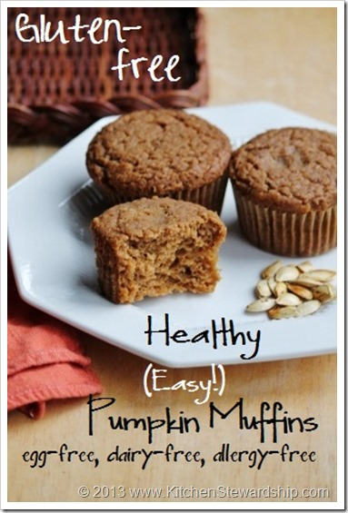 ... Gluten-free Pumpkin Muffins (Dairy-free, Egg-free, Corn-free, Soy-free
