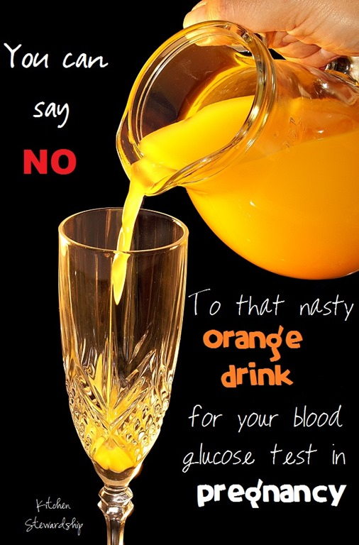 Alternatives to the Orange Drink for Blood Glucose Testing in Pregnancy
