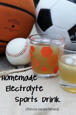 Ingredients for Homemade Gatorade Sports Drink Recipe with Stevia