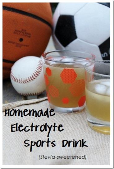 Homemade Electrolyte Sports Drink {Honey & Stevia-Sweetened}