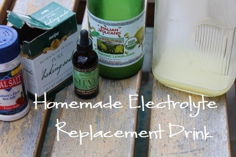 Ingredients for Homemade Gatorade Electrolyte Drink with Stevia