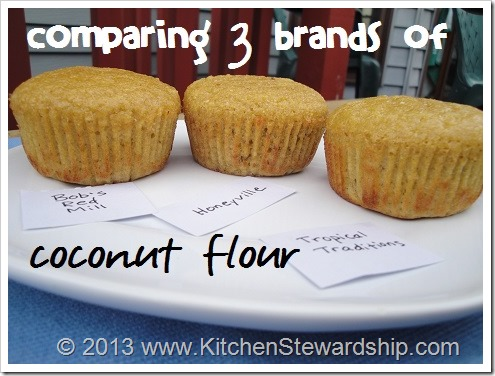 comparing 3 brands of coconut flour