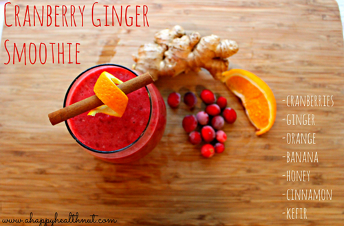 cranberry ginger smoothie