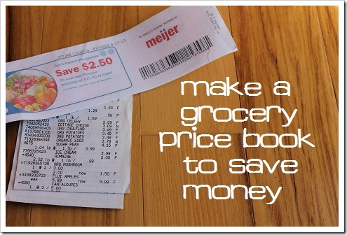 Make a Grocery Shopping Price Book