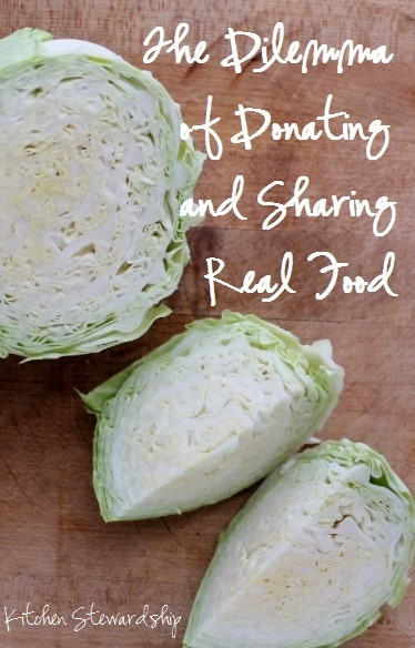 Dilemma of Donating and Sharing Real Food