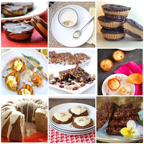 Sweets cookbook collage 3x3