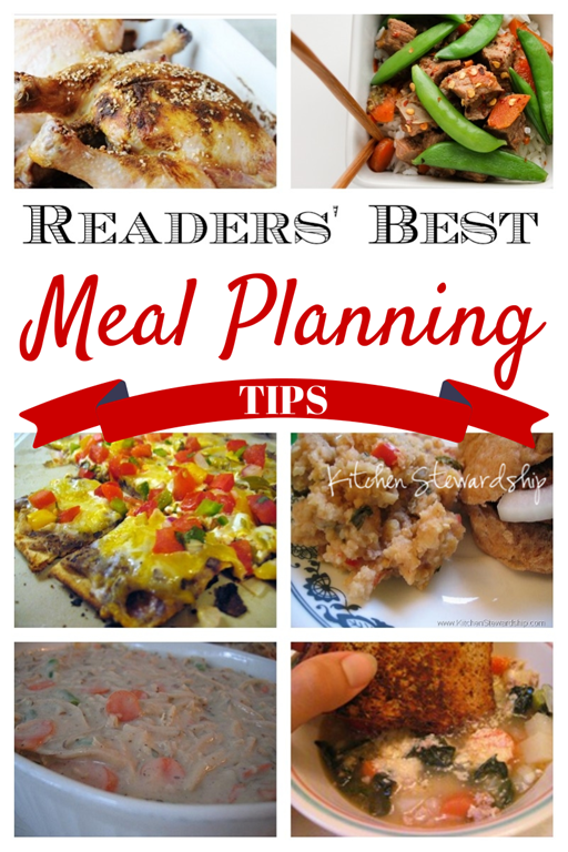 Readers Best Meal Planning Tips