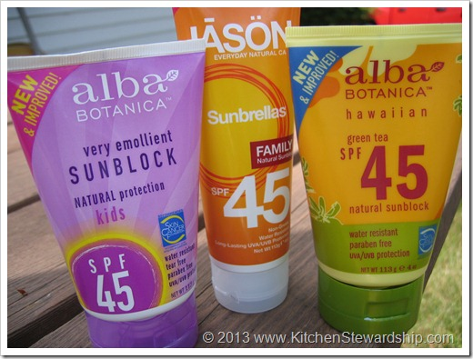 chemical sunscreens