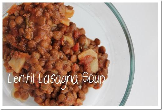 Lentil Lasagna Soup