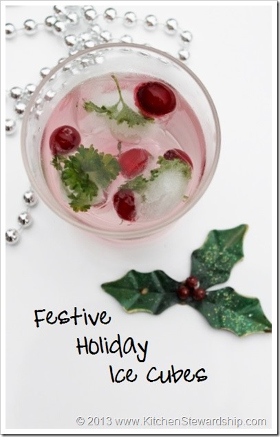 Festive Holiday Ice Cubes