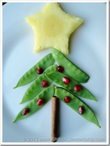 Healthy Christmas Tree Food Art with Vegetables
