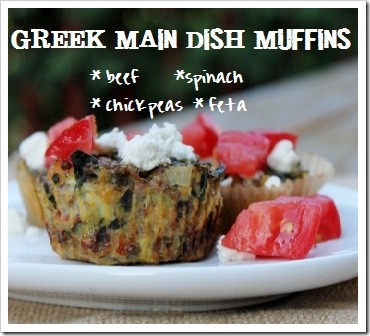 Greek Chickpea-Meat Main Dish Muffins