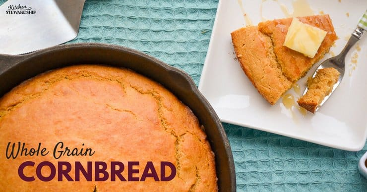 No need to compromise your health when it comes to baking. This simple whole grain cornbread is easy on your budget and your tummy.