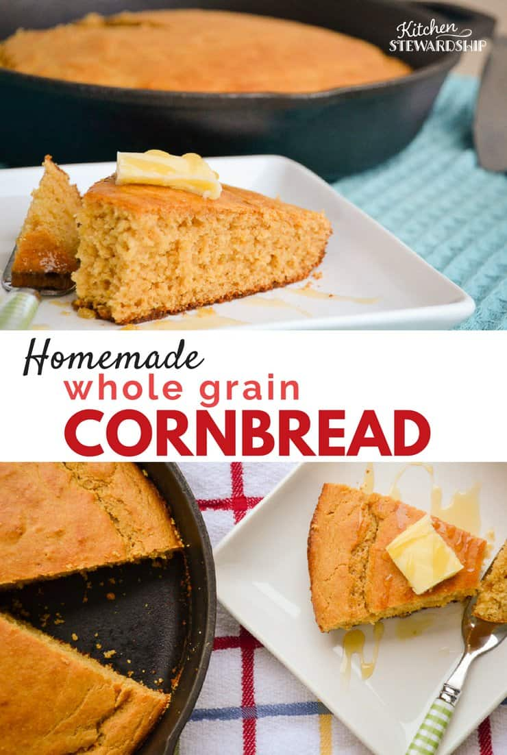 Whole grain corn bread