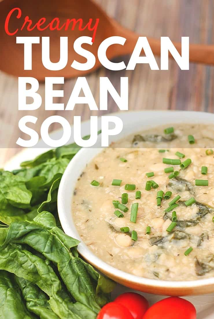 Comfort food that is nourishing for your body... you've got to try this creamy tuscan bean soup.