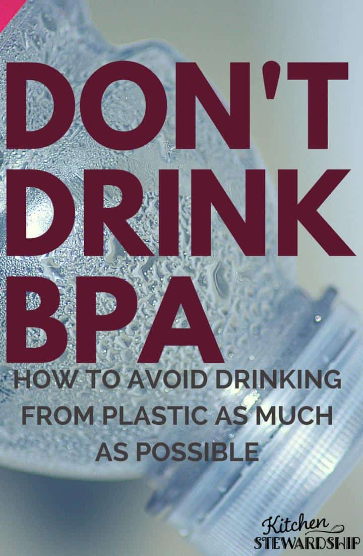 DON T DRINK BPA