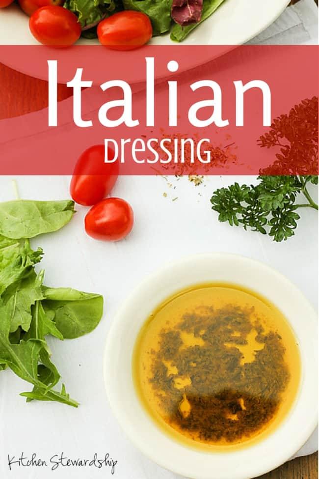 Homemade Italian Dressing ~ Just switch up the vinegar you use for a totally different dressing!