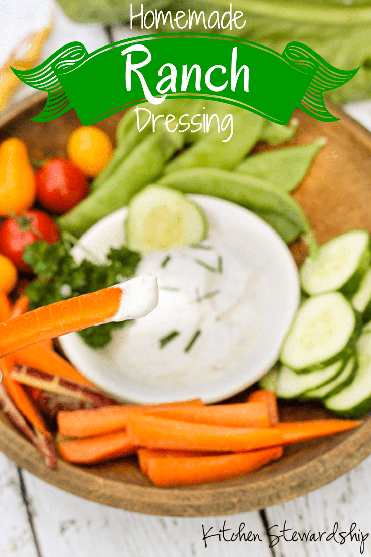 Homemade ranch dressing so easy my 8-year-old can make it himself! You'll never go back to the bottled stuff.
