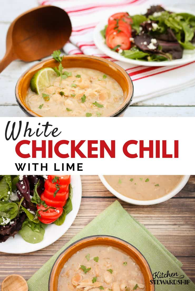 White Chicken Chili With Lime