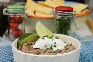 If you're a beans person (or not!) you've just got to try this Refried Beans Recipe-- simple ingredients and delicious as an appetizer or a meal.