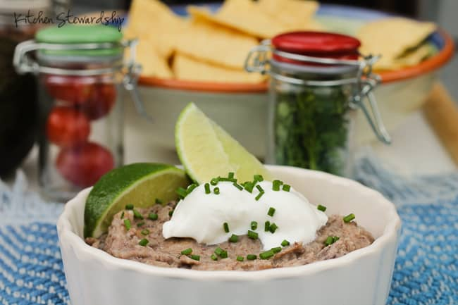 If you're a beans person (or not!) you've just got to try this Refried Beans Recipe - simple ingredients and delicious as an appetizer or a meal.