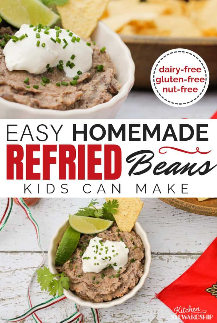 Homemade refries beans