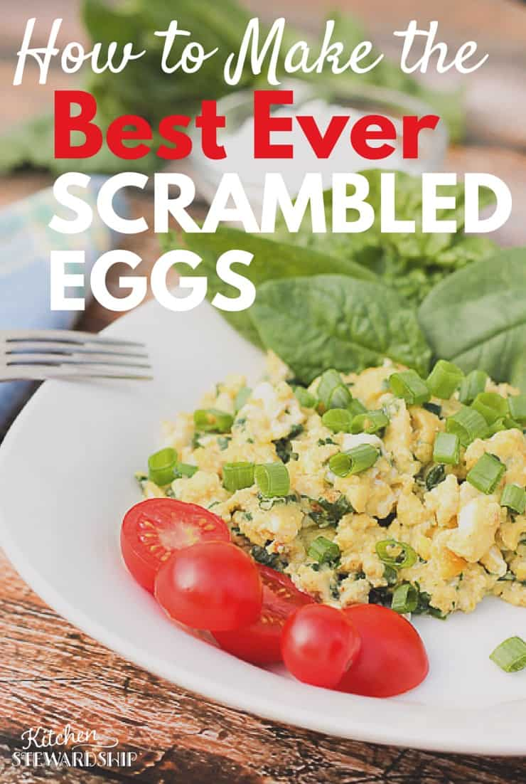 The BEST scrambled eggs for breakfast - and super easy! Make scrambled eggs as fast as cereal but pumped up with major nutrition. I did this every day when I was pregnant!