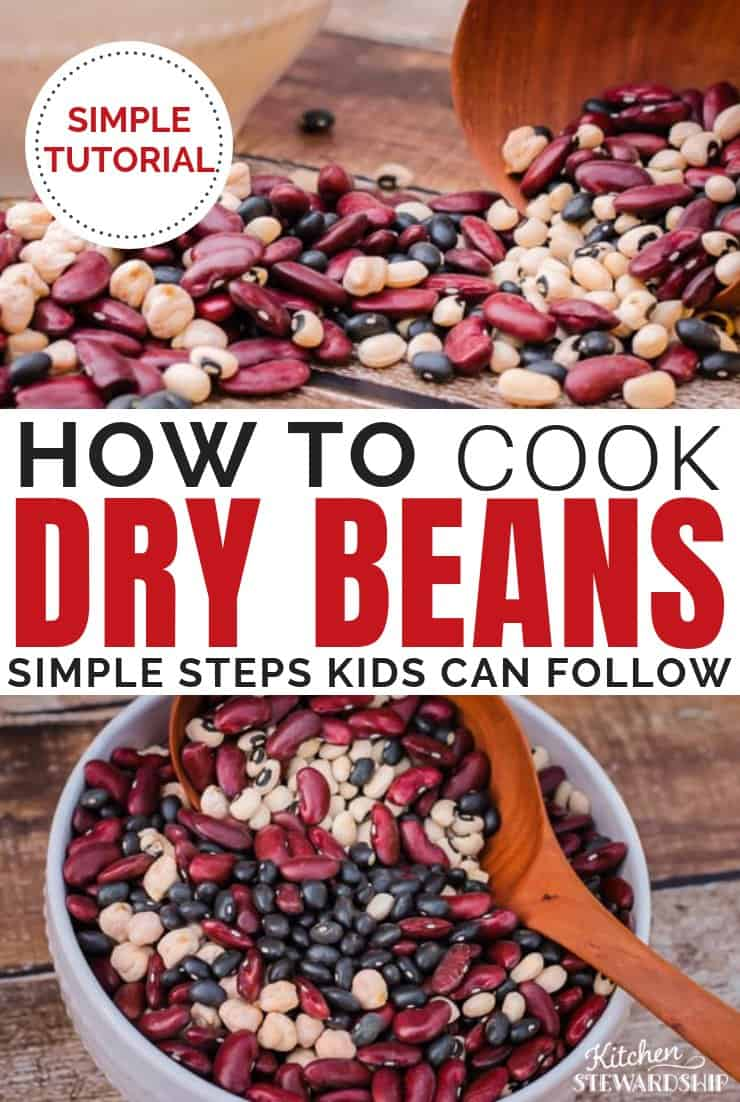 How to cook dry beans.