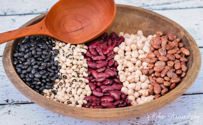 Great info on where to buy, how to prepare and recipes to get more beans in your diet!!