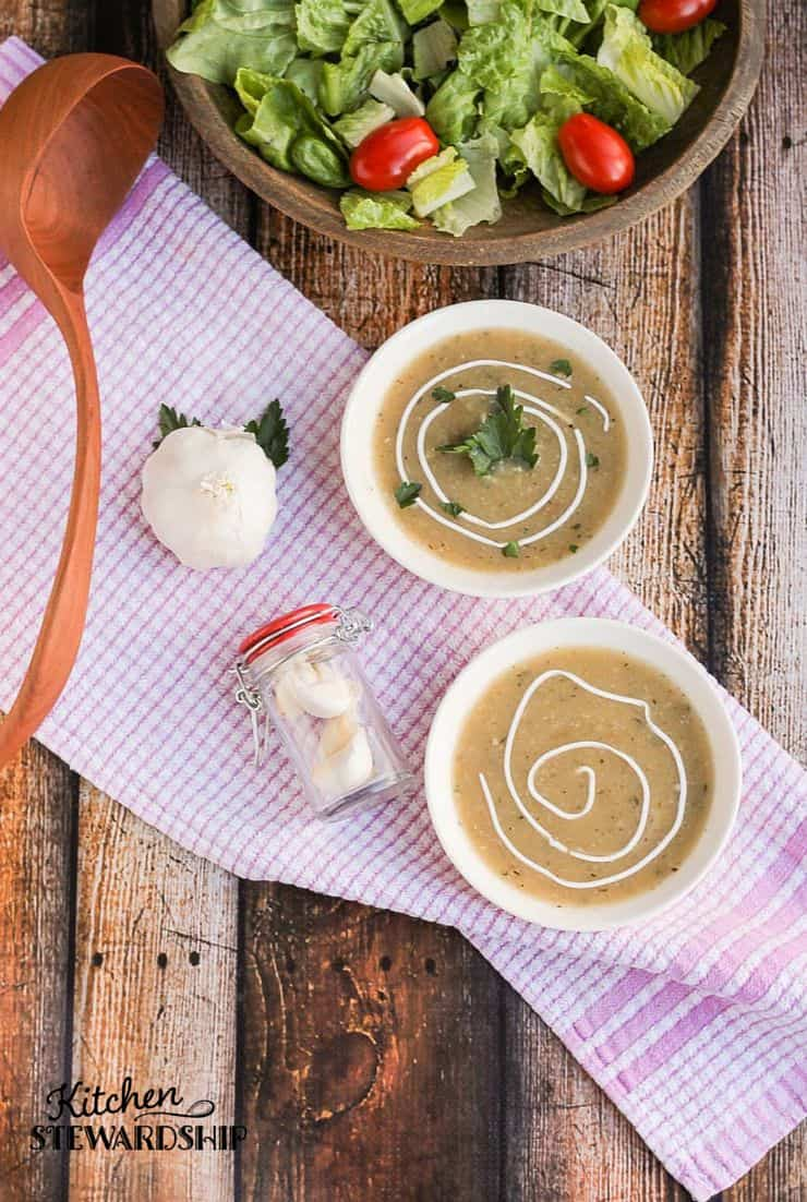 This soup is a must in the winter. Kick all of those nasty bugs with garlic soup.