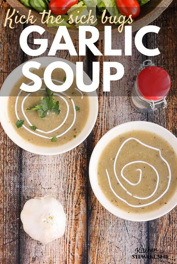 Kick The Sick Bugs Garlic Soup