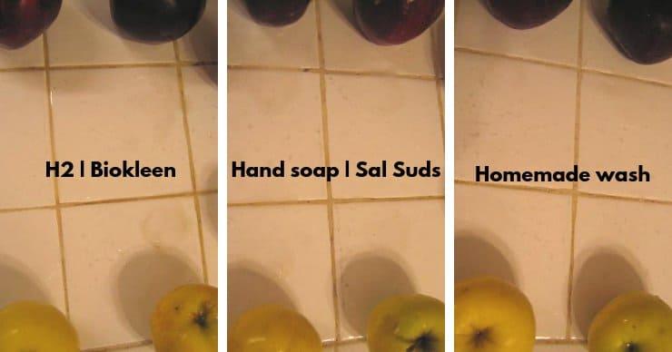 Produce wash testing