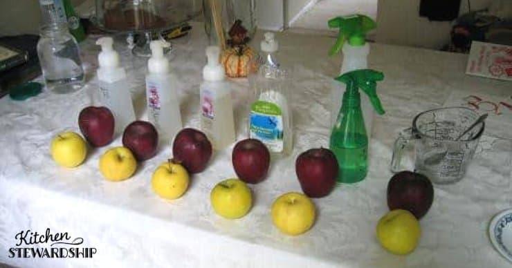 testing produce wash
