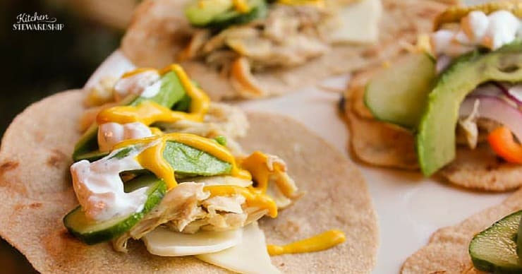 California Chicken Wraps - Healthy, Frugal and Easy! Costs less than $1 per wrap