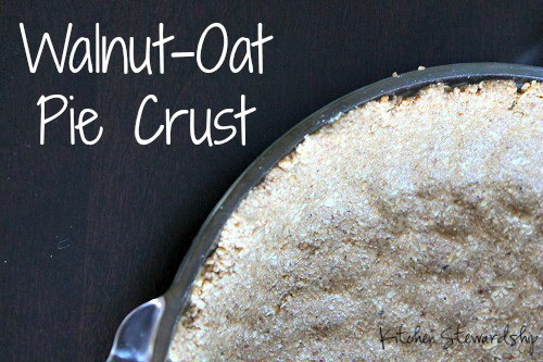 Walnut-Oat Gluten Free Pie Crust Recipe