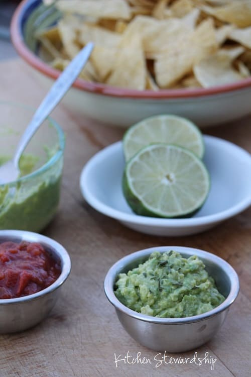Only three ingredients! No need to buy processed guacamole with questionable ingredients and preservatives when you can DIY at home.