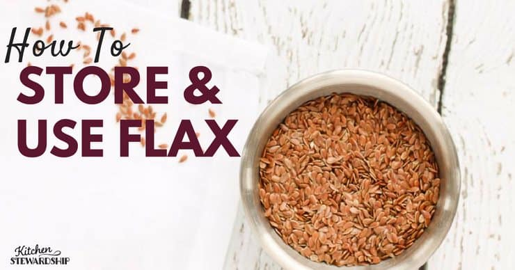 Flax has a lot of health benefits. Here are some tips on proper use and storage.